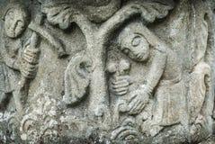 Mittelalterliches Stein-Schnitzen Stockbild