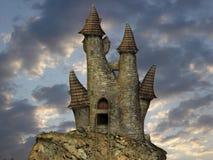 Mittelalterliches Toon-Schloss stock abbildung