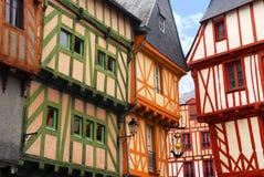 Mittelalterliches Vannes, Frankreich Stockfotografie