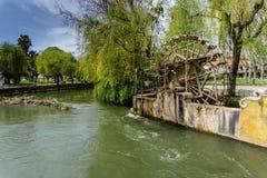 Mittelalterliches Wasserrad Tomar portugal Stockbild