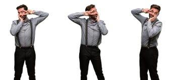 Mittelaltermann, der einen Anzug trägt lizenzfreies stockbild