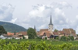 Mittelbergheim in Alsace Royalty Free Stock Photography