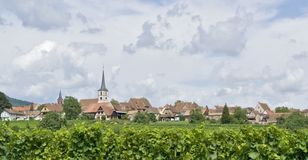 Mittelbergheim nell'Alsazia Fotografia Stock