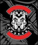 Mittelbulldoggen-Maskottchen-Illustrationsvektor stock abbildung