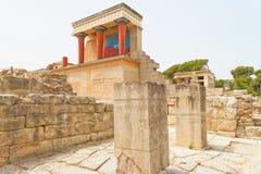 Mittelgebäude von Knossos Lizenzfreies Stockbild
