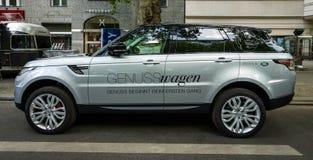 Mittelgroße Luxus-SUV-Strecke Rover Sport, seit 2013 Lizenzfreie Stockfotografie