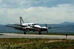 Mittelgroßes Flugzeug Stockfoto