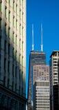 Mittelkontrollturm John-Hancock in Chicago lizenzfreies stockbild