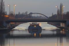 Mittelland kanal fotografering för bildbyråer