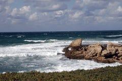 Mittelmeer in Caesarea Lizenzfreies Stockbild