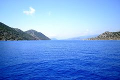 Mittelmeer in der Türkei stockfoto