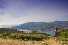Mittelmeer, Frankreich lizenzfreies stockbild