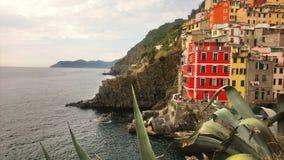 Mittelmeer, Ostküste Italien, cinque terre, Riomaggiore stockbilder