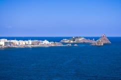 Mittelmeer in Sizilien Stockfotografie