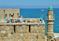 Mittelmeeransichten Stockfoto