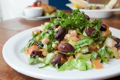 Mittelmeerartsalat Stockfotos