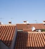 Mittelmeerdachspitzen Stockfoto