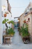 Mittelmeerecke Stockbild