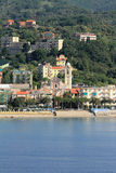 Mittelmeererholungsort Albissola-Jachthafen, Savona, Italien Stockbilder
