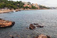 Mittelmeererholungsort Illetes, Palma de Majorca, Spanien Stockfoto