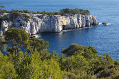 Mittelmeerfelsen Stockbild