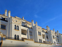 Mittelmeerhäuser Lizenzfreies Stockfoto