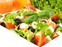 MittelmeerKüche in der Gaststätte Stockbild