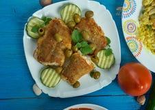 Mittelmeerküche, Spanisch-ähnlicher Kabeljau stockbilder