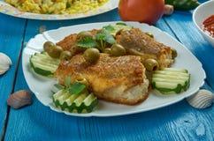 Mittelmeerküche, Spanisch-ähnlicher Kabeljau stockfotos