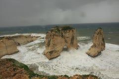 Mittelmeerküste Beirut Stockbilder