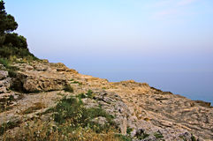 Mittelmeerküste morgens Lizenzfreie Stockbilder