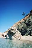 Mittelmeerküste nahe Adrasan, die Türkei Lizenzfreies Stockfoto