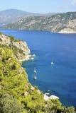 Mittelmeerküste nahe Marmaris, die Türkei Stockbilder