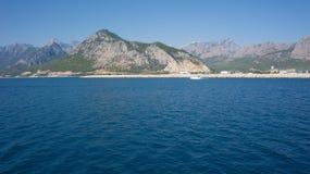 Mittelmeerküstenhafen von Antalya, Ansicht Stockbilder