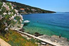 Mittelmeerküste Stockfoto