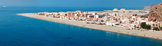 Mittelmeerküste, Stadt von Calahonda, Provinz von Almeria, Badekurort Lizenzfreie Stockbilder