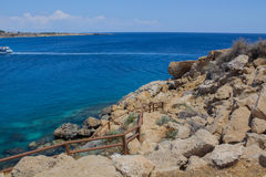 Mittelmeerlandschaft auf einem Kap Greco Lizenzfreie Stockbilder