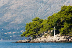 Mittelmeerlandschaft - Cavtat, Kroatien Stockbilder