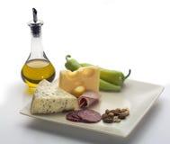 Mittelmeernahrung lizenzfreie stockbilder