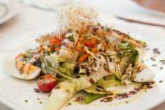 Mittelmeersalat des strengen Vegetariers Stockfoto