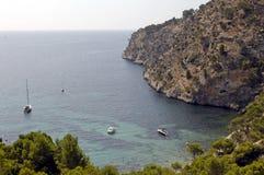 Mittelmeerschacht/Majorca Lizenzfreie Stockfotos