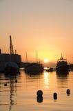 Mittelmeersonnenaufgang in Malta lizenzfreies stockbild