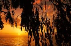 Mittelmeersonnenuntergang stockbild