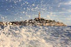 Mittelmeerstadt Rovinj, Kroatien Stockfotos