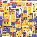 Mittelmeerstadt, sonniges Dorf, indische Elendsviertel lizenzfreie abbildung