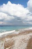 Mittelmeerstrand Stockfotos
