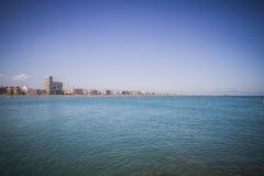 Mittelmeerszene, peniscola Stadt gelegen in Spanien Lizenzfreies Stockbild