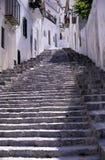 Mittelmeertreppenhaus Stockfoto