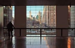 Mittelnew york city Ansicht Warner- Lizenzfreie Stockfotos
