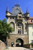 Mitteltor port på slottkullen, Meissen, Sachsen Arkivbild